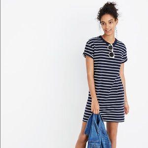 Madewell Pocket Striped Tee Dress